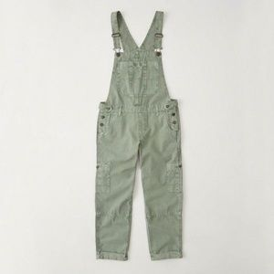 Abercrombie & Fitch Twill Overalls Army Green M